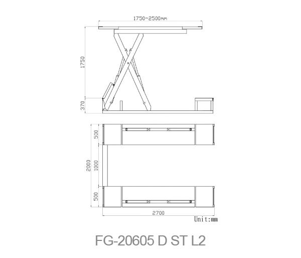 FG-20605DSTL2 dimension